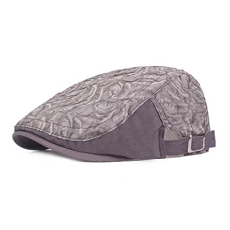 Scrox 1x Hombre Mujer Sombreros Gorras Boinas Retro Moda Malla de Encaje  Flat Cap Casual Estilo 6aa35b9540e