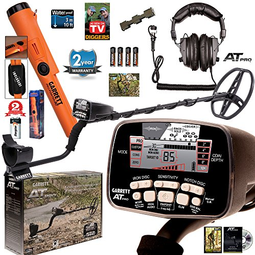 Garrett AT PRO Metal Detector with Pro-Pointer AT Underwater Pinpointer by Garrett