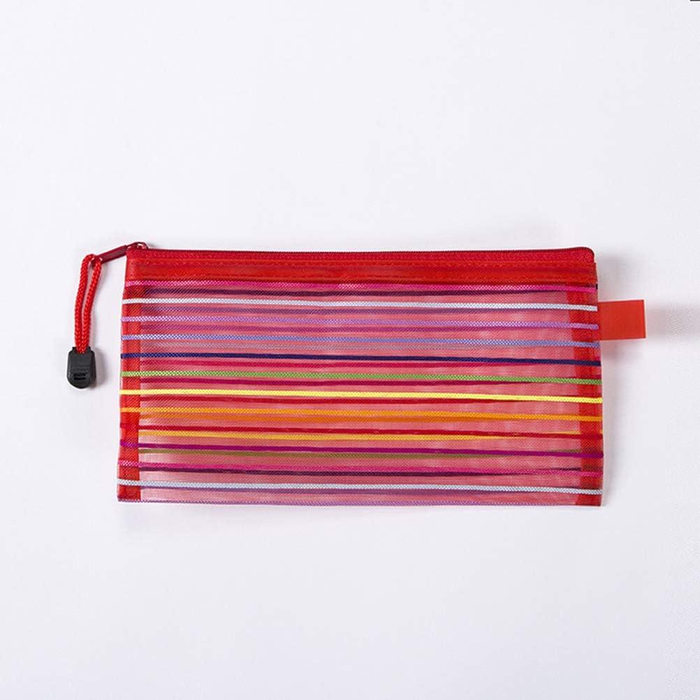 tama/ño A6 Stobok 12 bolsas organizadoras de malla con cierre de cremallera