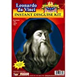 Forum Novelties Men's Leonardo Da Vinci Disguise Kit Adult Costume Hat