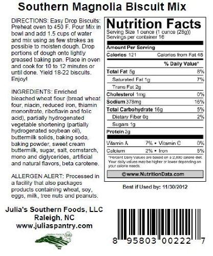 Julia's Southern Magnolia Biscuit Mix 18oz Pkg