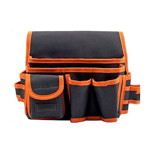 Bolsa de herramientas multifuncional de tela Oxford taladro eléctrico Mantenimiento del organizador del bolso bolsa de herramientas con cinturón de ...