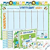 Potty Training Chart for Toddlers – Reward Your Child – Sticker Chart, 4 Week Reward Chart, Certificate, Instruction Booklet and More – for Boys and Girls: more info