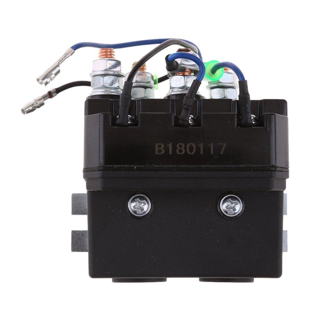 IPOTCH Relè Interruttore Elettromagnetico 12V DC 200 AM Accessorio Verricello ATV