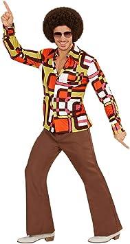 Amakando Camisa para Hombre de los años 70 y 80 Estilo Disco / En ...