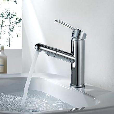 Amzdeal rubinetto di tipo pull per cucina Miscelatore per lavello ...