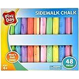 Play Day 48-Piece Won't Roll Away Sidewalk Chalk