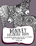 Donkey Coloring Book: 30 Hand Drawn, Doodle and Folk Art Style Donkey Adult Coloring Designs (Animal Coloring Books) (Volume 1)