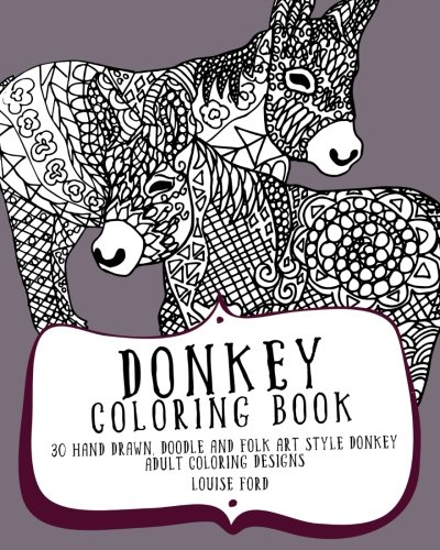 amazon donkey coloring book 30 hand drawn doodle and folk art