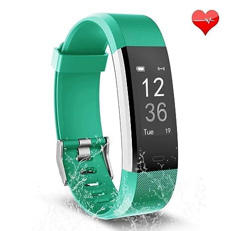 701e6657a TwobeFit Fitness Tracker, Waterproof Activity Tracker Heart Rate Monitor  Bluetooth Smart Watch Bracelet Wristband Sleep