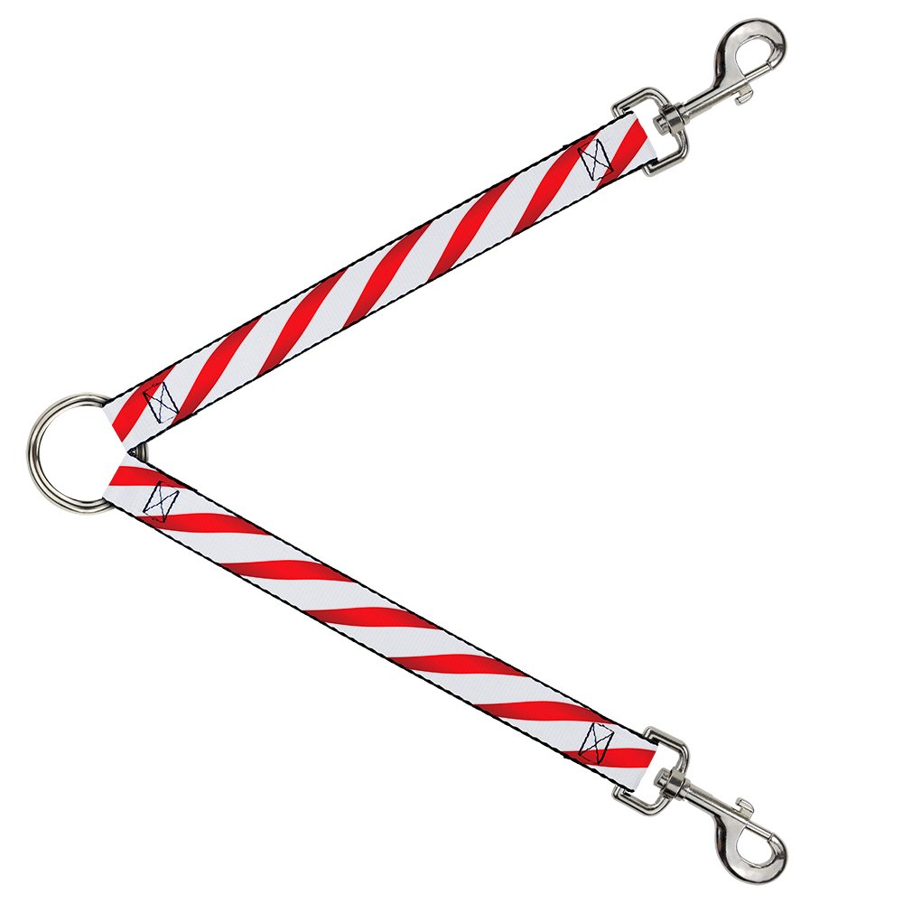 Buckle-Down DLS-W30334 Candy Cane Leash Splitter, 1  Wide 30  Length