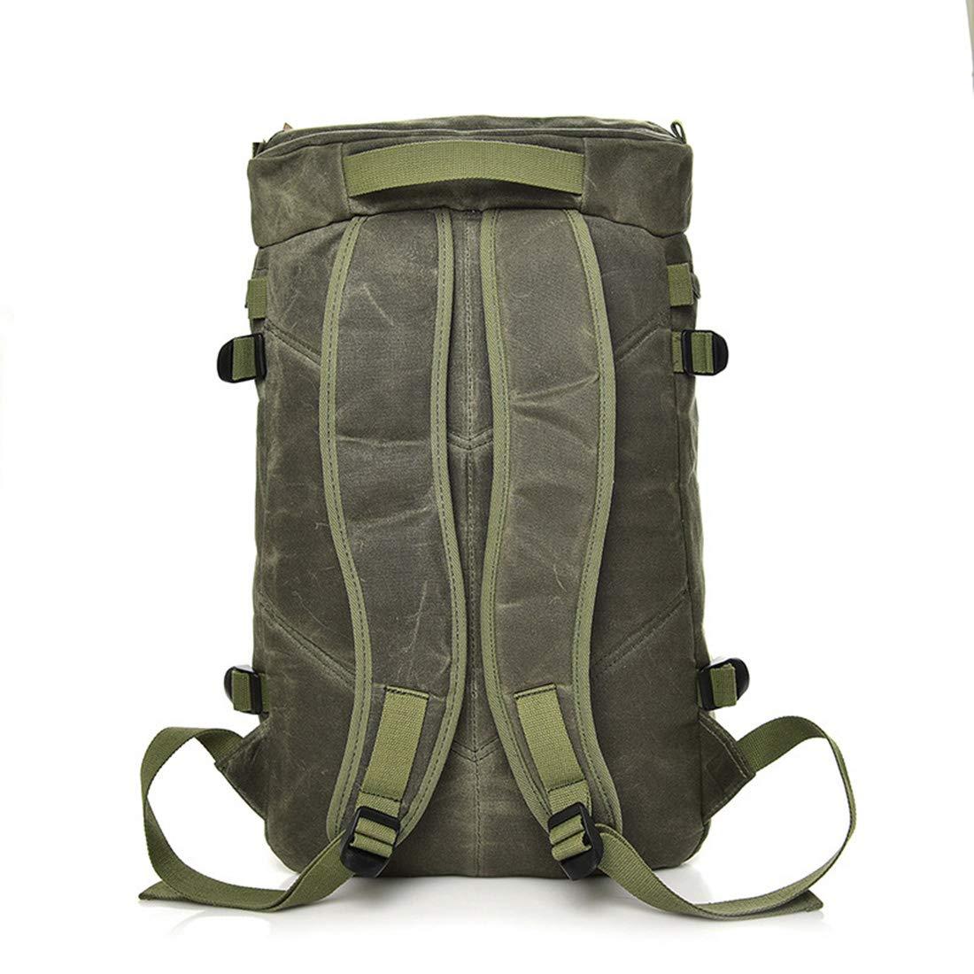 Lokijuge Mens Backpacks Canvas Bag Travel Backpack Outdoor Short Paragraph Waterproof Canvas Bag