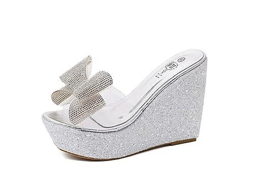 zeppa scarpe aperte