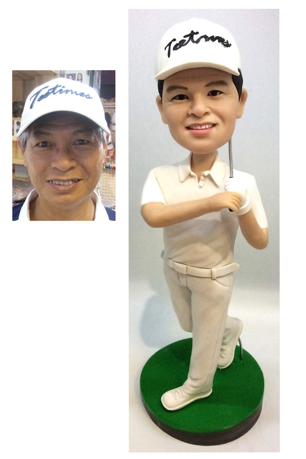 8.6 Custom Golfer Bobblehead Sportsman Figurine Personalized Occupational Gifts Valentines Day Gift Business Gift Father Gift Boyfriend Gift Friends Gifts Based on Your Photos for Christmas Day