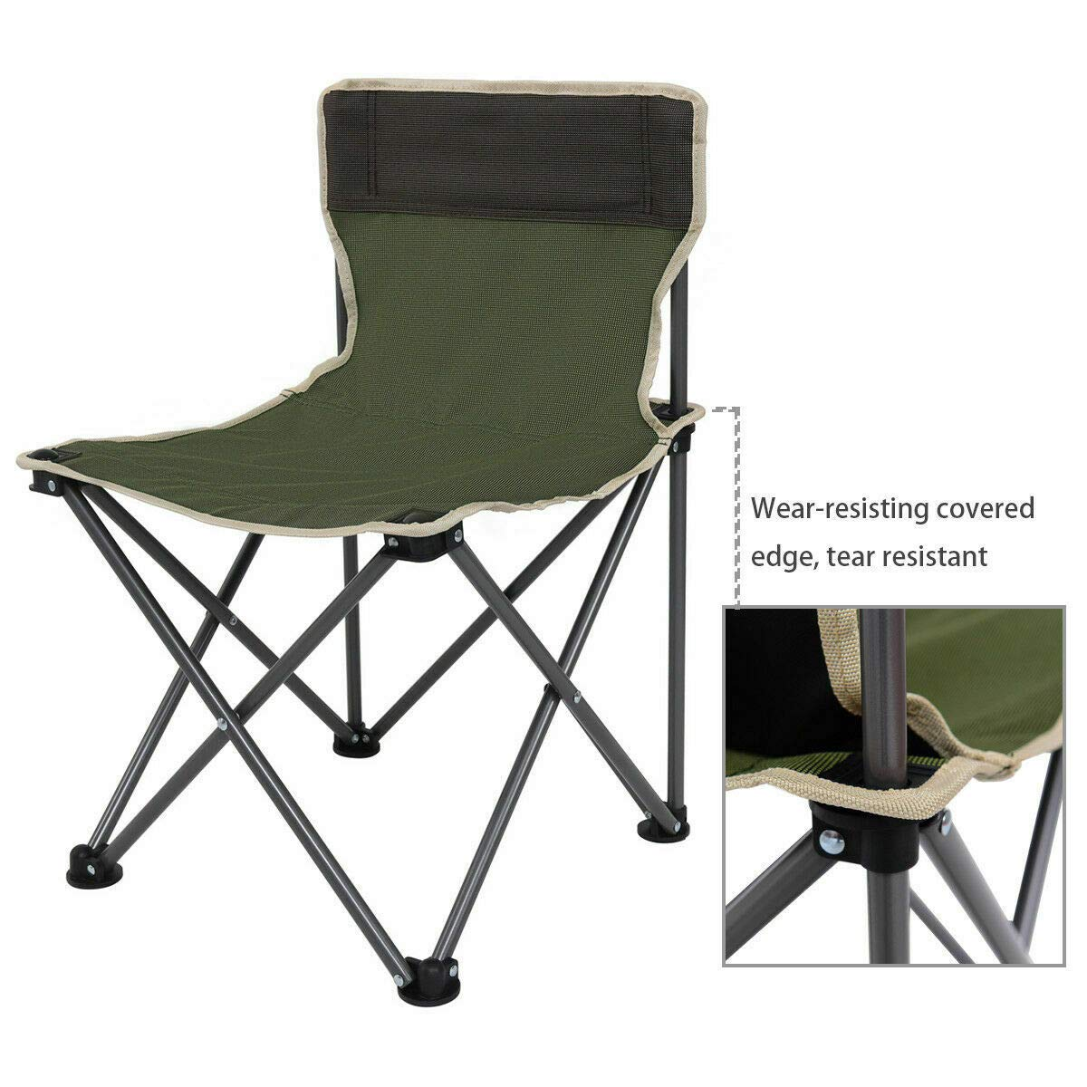 ANA Store Enjoy Barbecue Party Curl Stand Iron Stell Frame Green Oxford Portable Folding Table Chairs Set Inside Outside Camp Beach Picnic with Carrying Bag by ANA Store (Image #7)