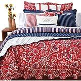 Lauren by Ralph Lauren Villa Martine Floral Red KING Bedskirt