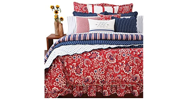 Amazon.com: Ralph Lauren Villa Martine Floral Queen Bedskirt ...