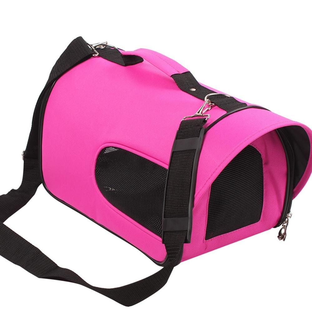 xueyan Bolsa de viaje para mascotas bolsa de viaje portátil Bolsa de viaje para mascotas con bolsa de viaje para mascotas, medium, rose red