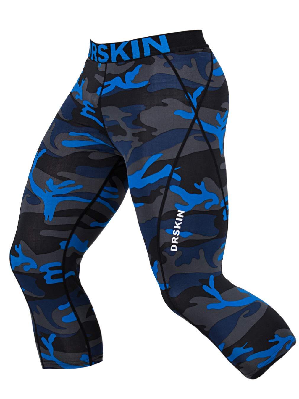 DRSKIN Men's 3/4 Compression Tight Pants Base Under