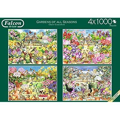 Falcon De Luxe 11235 Giardini Di Tutte Le Stagioni 4 X Puzzle Da 1000 Pezzi