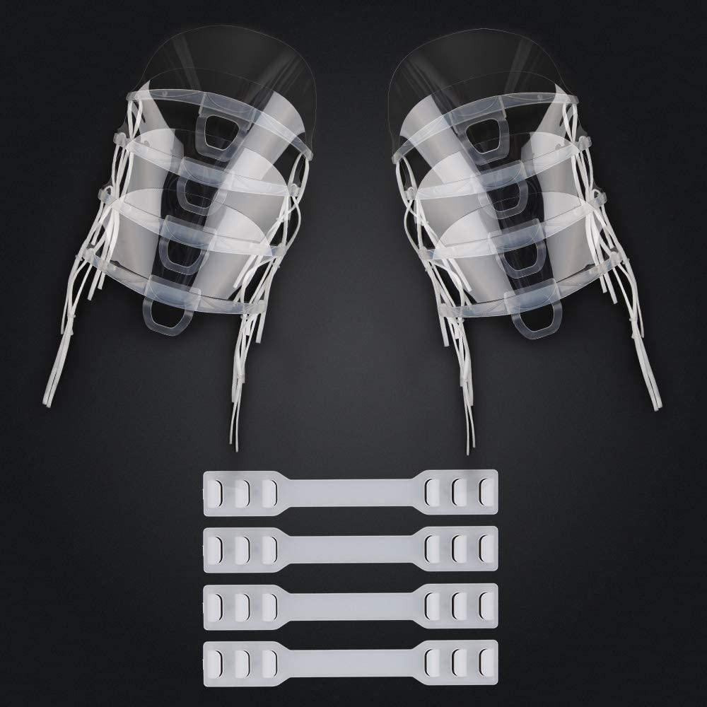 InnooCare 8 PCS Visi/ères d/écran de Protection de la Bouche de Visage Transparentes avec 4 Sangles dextension r/églables Flexibles
