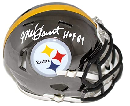 320f69f2f Mel Blount Autographed Pittsburgh Steelers Chrome Mini Helmet JSA at ...