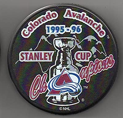 Colorado Avalanche 1996 Stanley Cup Champions Official NHL Puck + FREE Puck Cube