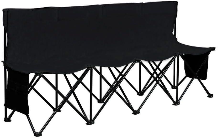 Yaheetech Chaise de Camping Banc Piable Portable Sac de Transport Poche de Rangement Camping Match de Football Basketball Capacit/é de Charge 100kg par Si/ège 4 Personnes