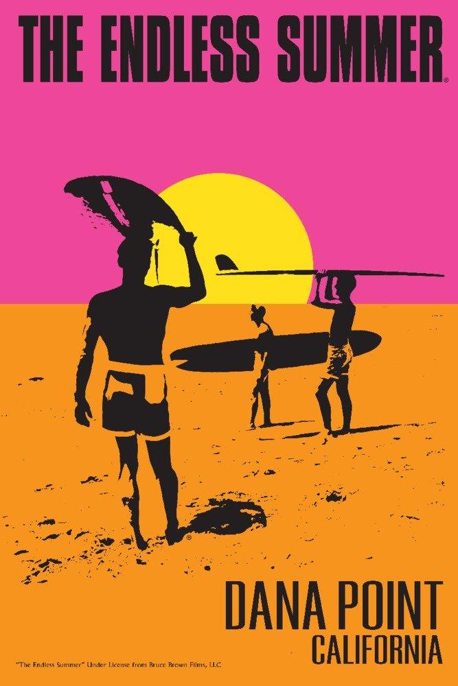 Dana Point, California - The Endless Summer - Original Movie Poster (12x18 Art Print, Wall Decor Travel Poster)