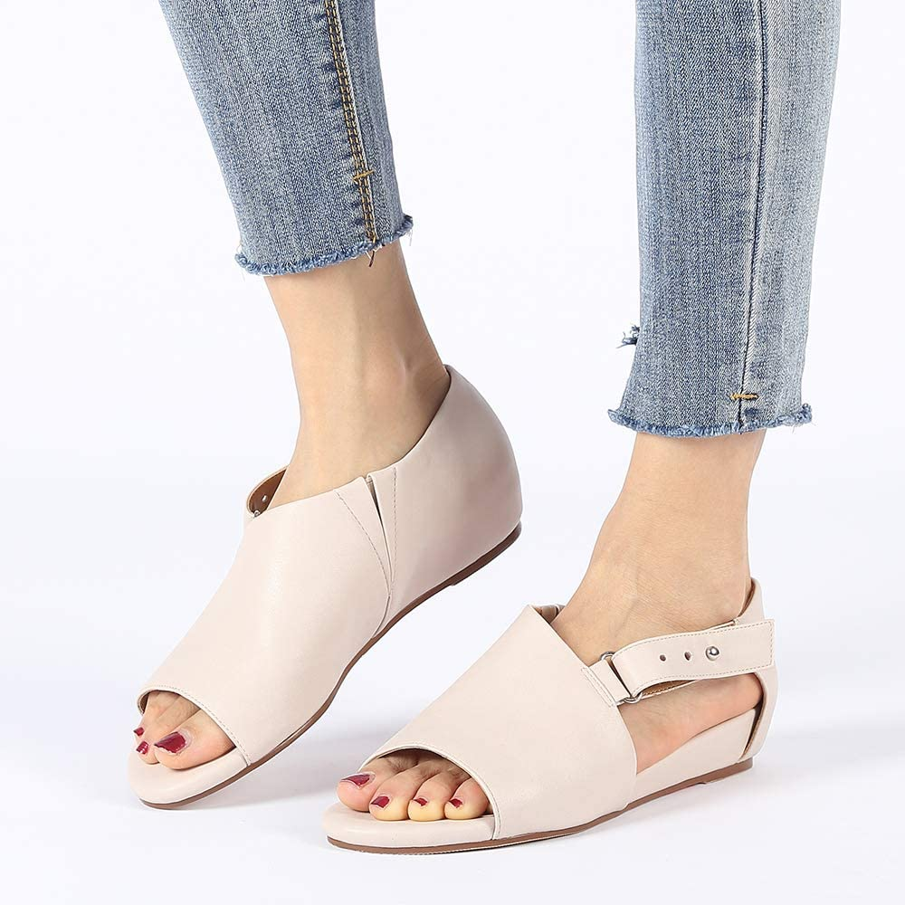 Susanny Ankle Buckle Strap Bowknot Women Wedge Sandals Elegant Summer Open Toe Dress Shoes