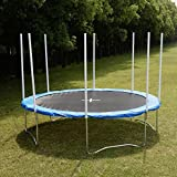 New-12-Ft-Trampoline-Combo-Bounce-Jump-Safety-Enclosure-Net-Wspring-Pad-Round