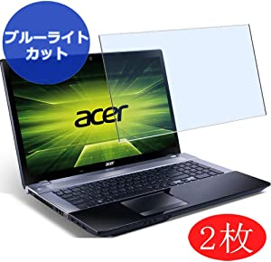 "【2 Pack】 Synvy Anti Blue Light Screen Protector for Acer Aspire V3-771 / V3-731G / V3-731 17.3"" Screen Film Protective Protectors [Not Tempered Glass]"