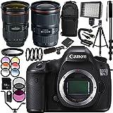 Canon EOS 5DSR DSLR Camera with EF 24-70mm f/2.8L II USM Lens & EF 16-35mm f/2.8L III USM Lens 30PC Accessory Kit - Includes 64GB Memory Card + MORE