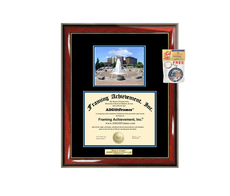 Amazon.de: Diplom Rahmen Indiana State University ISU-Graduation ...