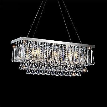 BMEI Regentropfen Design Kristall Kronleuchter Beleuchtung Restaurant Moderne  Wohnzimmer Rechteckigen Kristall Kronleuchter