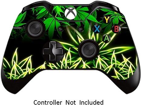 GameXcel ® Controlador Xbox Una piel - Xbox personalizada 1 mando a distancia de vinilo pegatinas - Modded Xbox One Accesorios cubren la etiqueta - Weeds Black [ Controlador no está incluido]: Amazon.es: Videojuegos