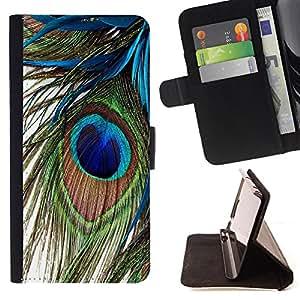 - Peacock Feather/ Personalizada del estilo del dise???¡Ào de la PU Caso de encargo del cuero del tir????n del soporte d - Cao - For HTC One M8
