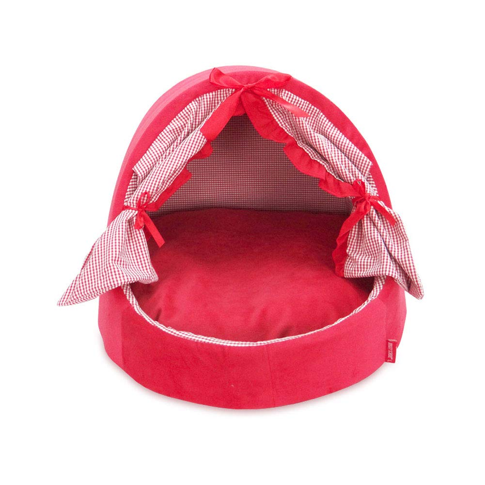 Red Large Red Large FITIN Pet Nest Cat Dog Bed Sofa Pet Nest Moisture-proof Removable Washable Bow Kennel Pet House,Red,L