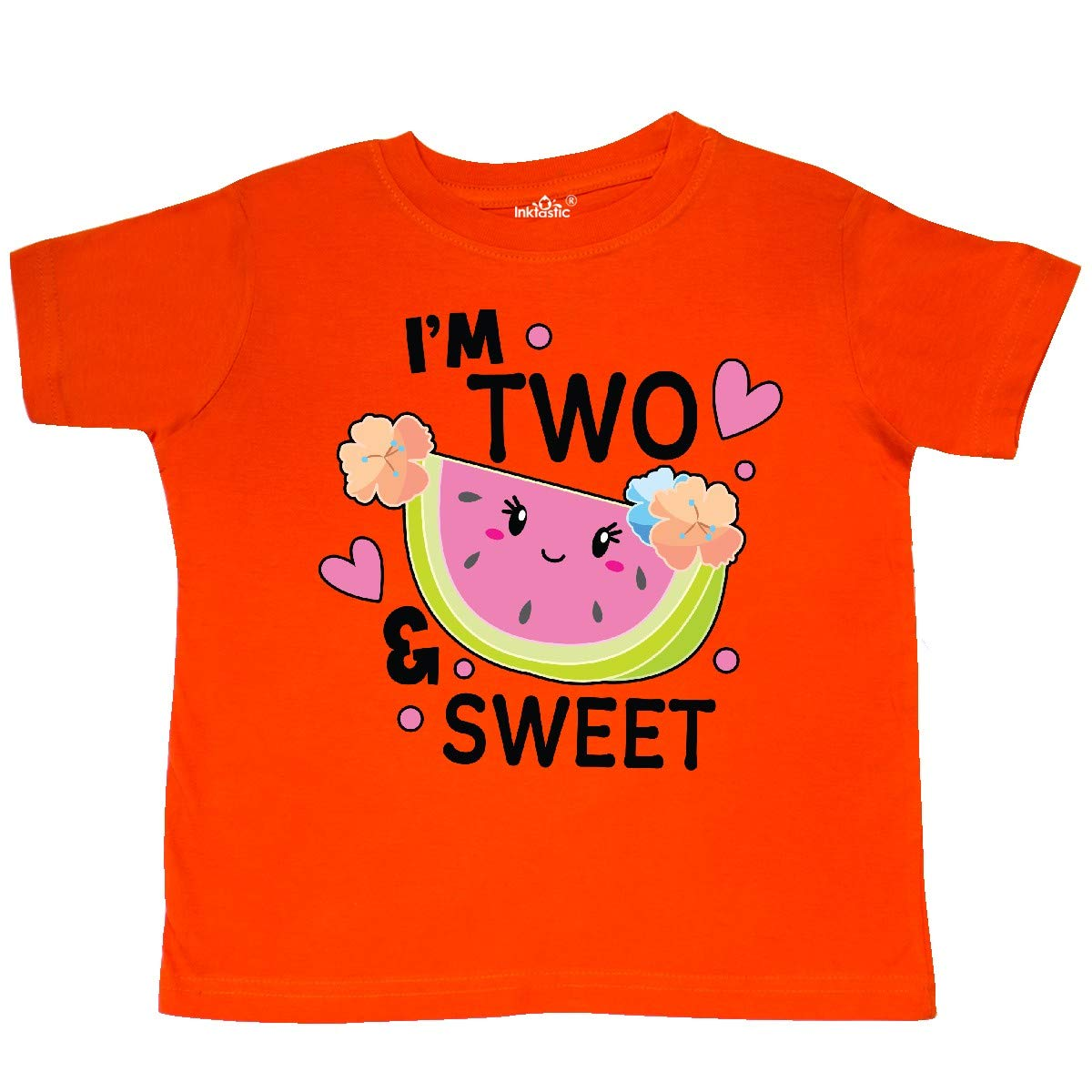 inktastic Im 2 and Sweet with Cute Watermelon Toddler T-Shirt