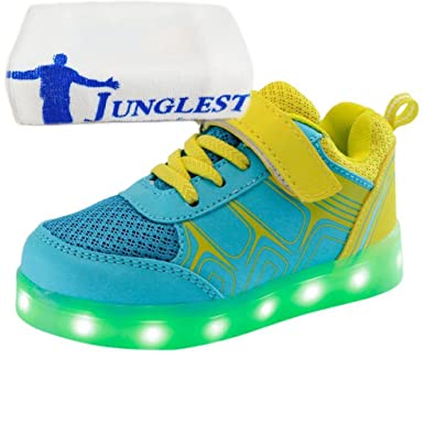 (Present:kleines Handtuch)Gelb EU 30, mode Kinder Jungen Sportsschuhe Mädchen Sneakers Fluorescence JUNGL