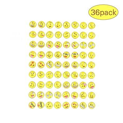 6244a9d13 Shankming Round Yellow Resin Emoji Stud Earrings Women Girl 36 pairs Jewelry:  Amazon.co.uk: Jewellery