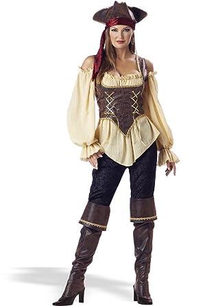 Amazon.com: Rústico pirata Lady Costume – X-Large – Tamaño ...
