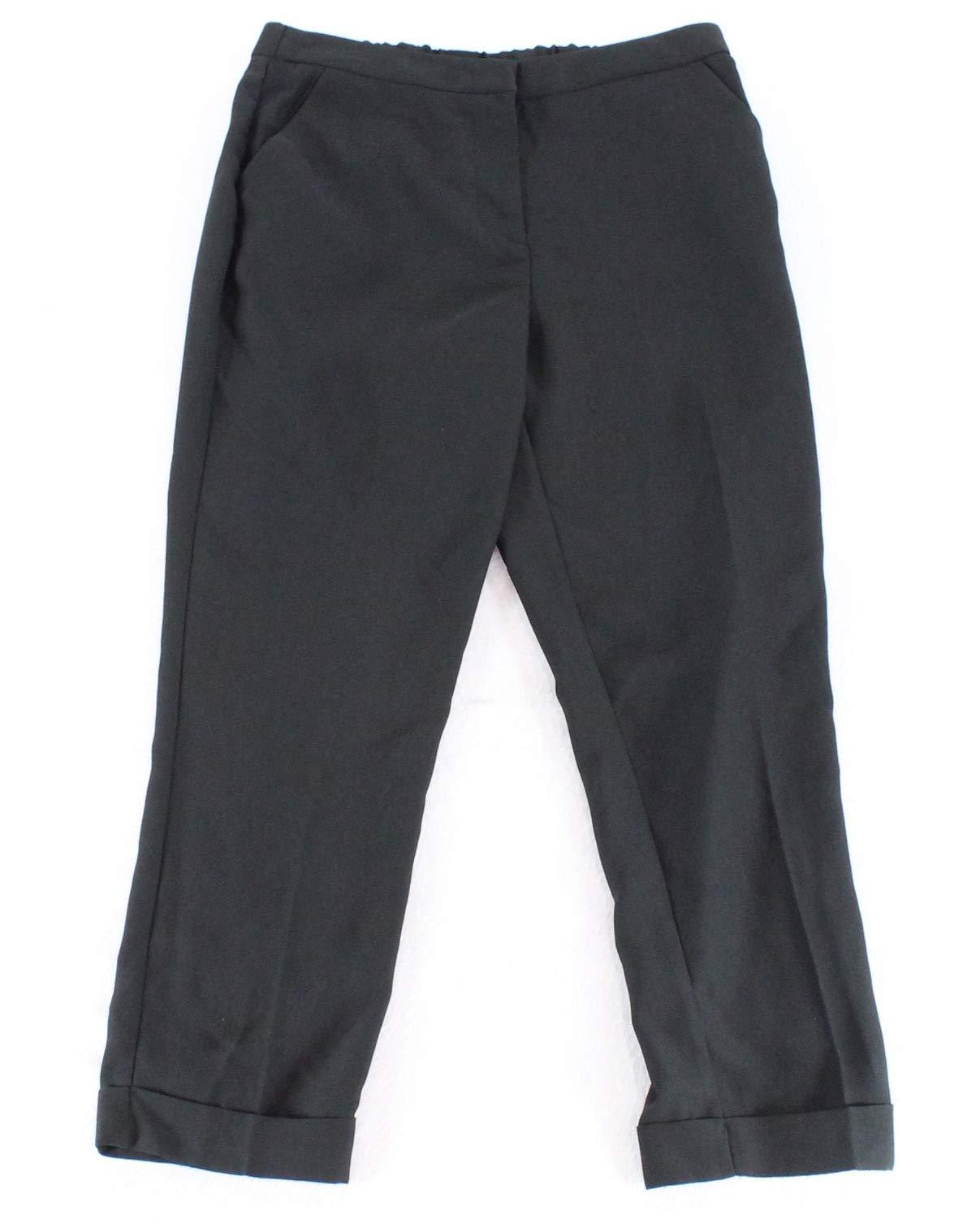 XOXO Solid Women's Medium Cuffed Hem Dress Pants Black M