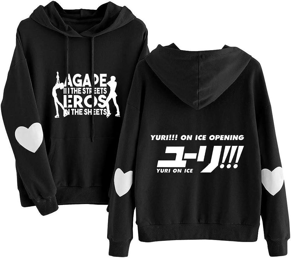 Yuri on Ice Sudaderas Pullover Impreso de Manga Larga con Capucha con cord/ón Sudaderas con Capucha con Bolsillos Grandes Mujeres C/ómodo Sweater