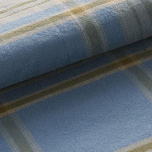 ChadMade Check Plaid Cotton Nickel Grommet Eyelet Blackout Lined Window Curtain Panel Drapes 1 Panel Sky Blue 100Wx96L Inch