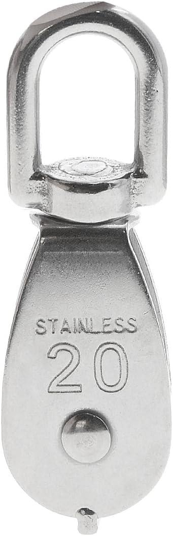 Saim M25 Swivel 304 Stainless Steel Wire Rope Single-sheaved Pulley Block 5Pcs
