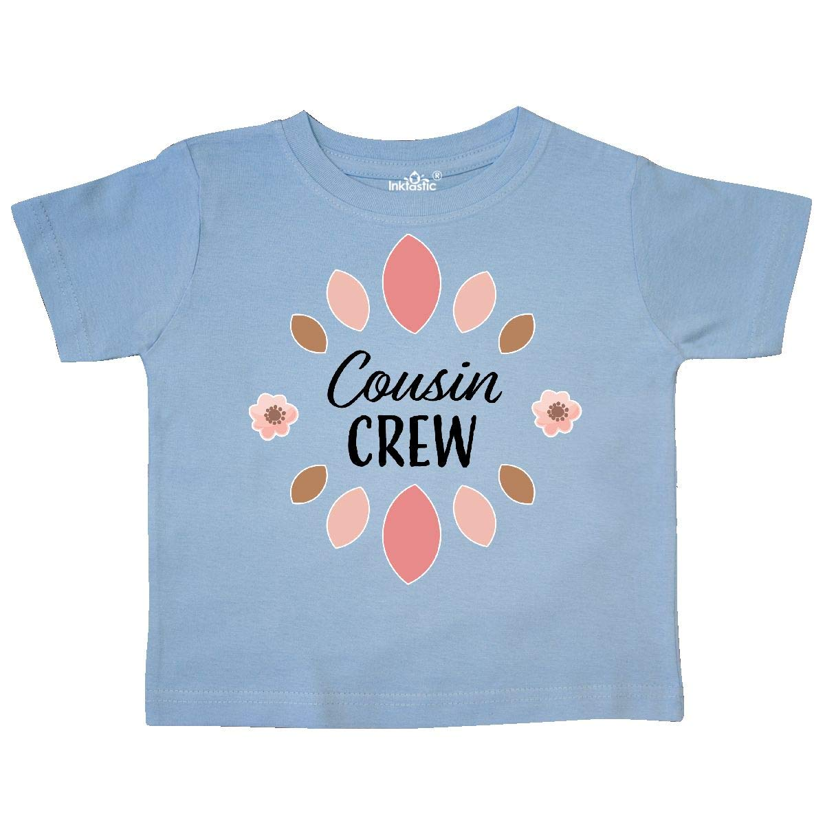 inktastic Cousin Crew with Pink Flowers Toddler T-Shirt