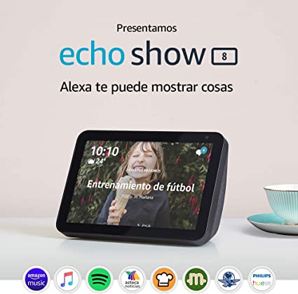 "Presentamos Echo Show 8 - Pantalla inteligente HD de 8"" con Alexa - Negro: Amazon.com.mx"