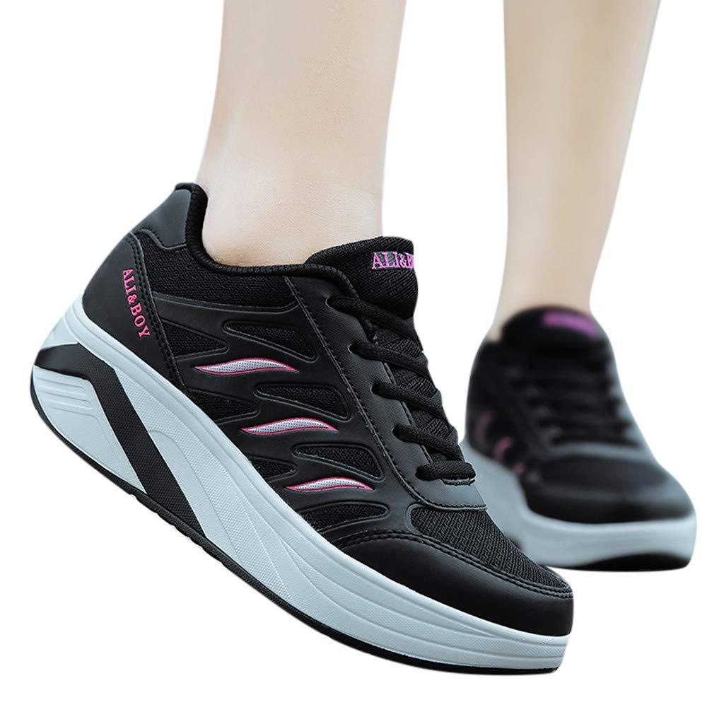 1e8f3a0252d7d Chaussures d uniformes habillées Chaussures de travail Bluestercool Femme  Basket Mode Chaussures de Sports Course Sneakers Fitness Gym ...