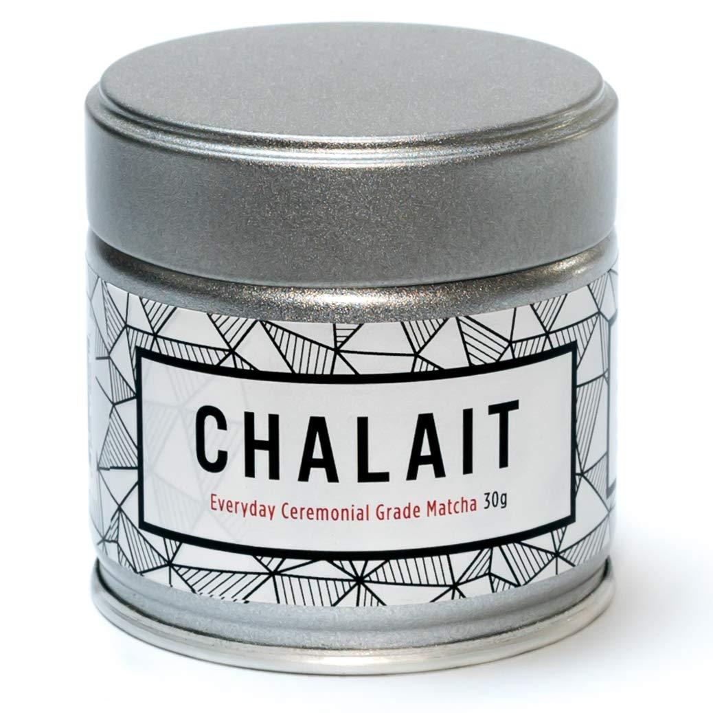 Chalait Matcha - Japanese Matcha Green Tea Powder - For Sipping as Tea - Antioxidants, Energy, Radiation Free, No Additives, Zero Sugar [30g Tin] (Everyday Grade)